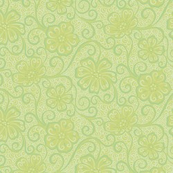 "14"" Remnant - Green Tonal  Floral -Meadow Dance by Amanda Murphy for Benartex"